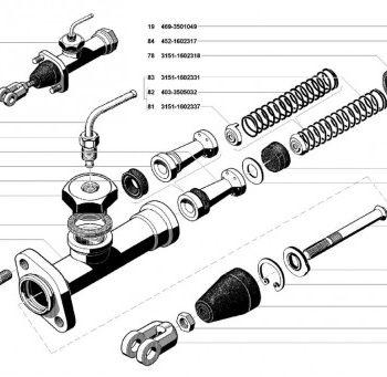 Главный цилиндр сцепления УАЗ 3741, 3962, 2206, 3303