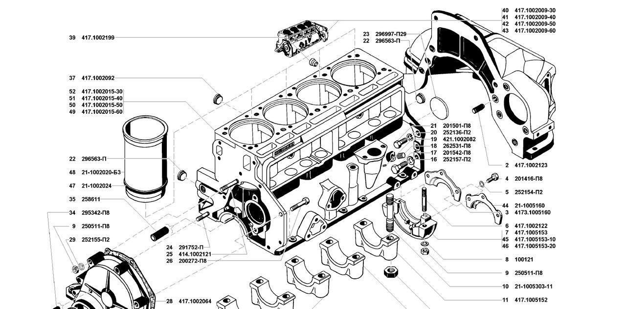 Гильза блока цилиндров двигателя УМЗ 4178