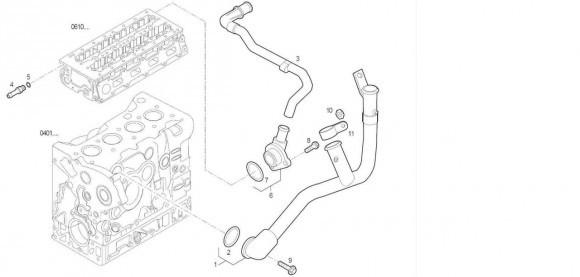 Трубопровод системы охлаждения