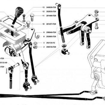 Привод управления КПП УАЗ 3741, 3962, 2206, 3303