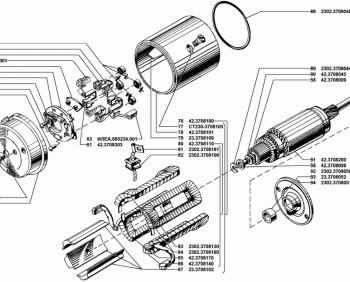 Ротор и статор стартера