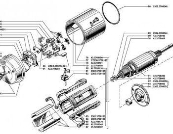 Ротор и статор стартера 4218