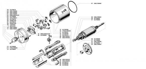 Ротор и статор стартера Умз 421