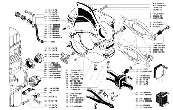 Сцепление УМЗ 4178, 4218, 4213 и модификации