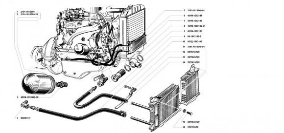 Фильтр очистки масла и радиатор масляный УМЗ 4178