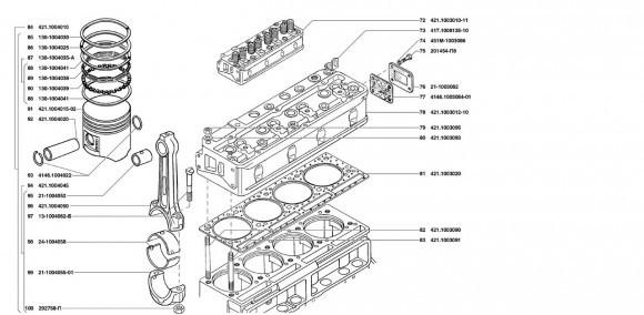 Головка блока. Поршень и шатун двигателя