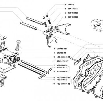 Корпус и крышка раздатки УАЗ 3741, 3962, 2206, 3303