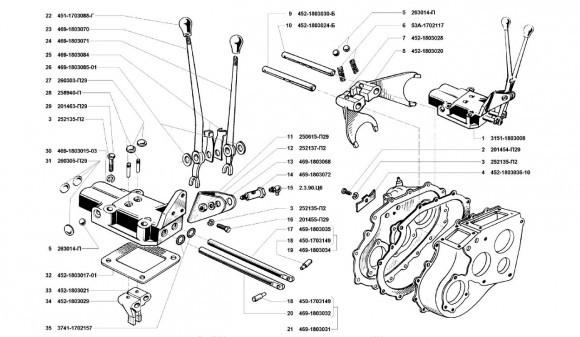 Корпус и крышка раздатки УАЗ 31512, 31514, 31519