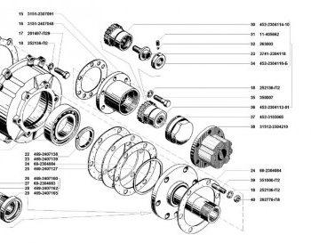 Цапфа колесного редуктора