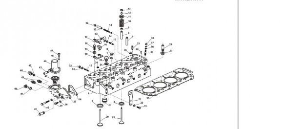 Головка блока цилиндров, корпус термостата ANDORIA (4.89.12.05.001)